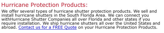 Hurricane Protection Products
